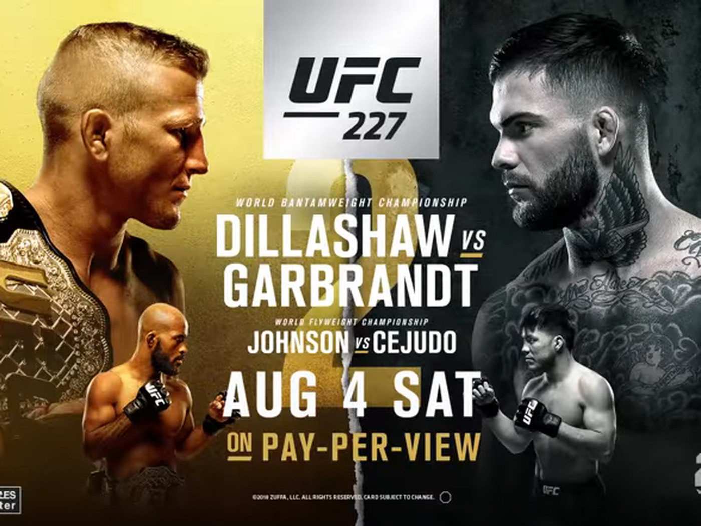 Youre going to be unable to get this latest UFC 227 video trailer 1400x1050