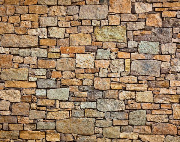 Brick Effect Wall Garden Custom Wallpaper Mural Print by Jw 600x474