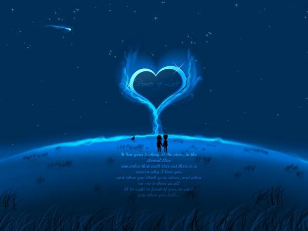 Blue Love Wallpaper - WallpaperSafari