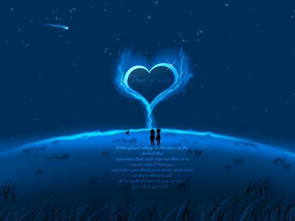Blue Love Wallpaper - Wallpape...