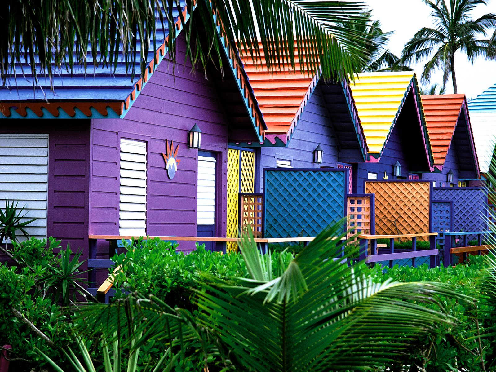 Colorful Houses Bahamas Wallpapers HD Wallpapers 1600x1200