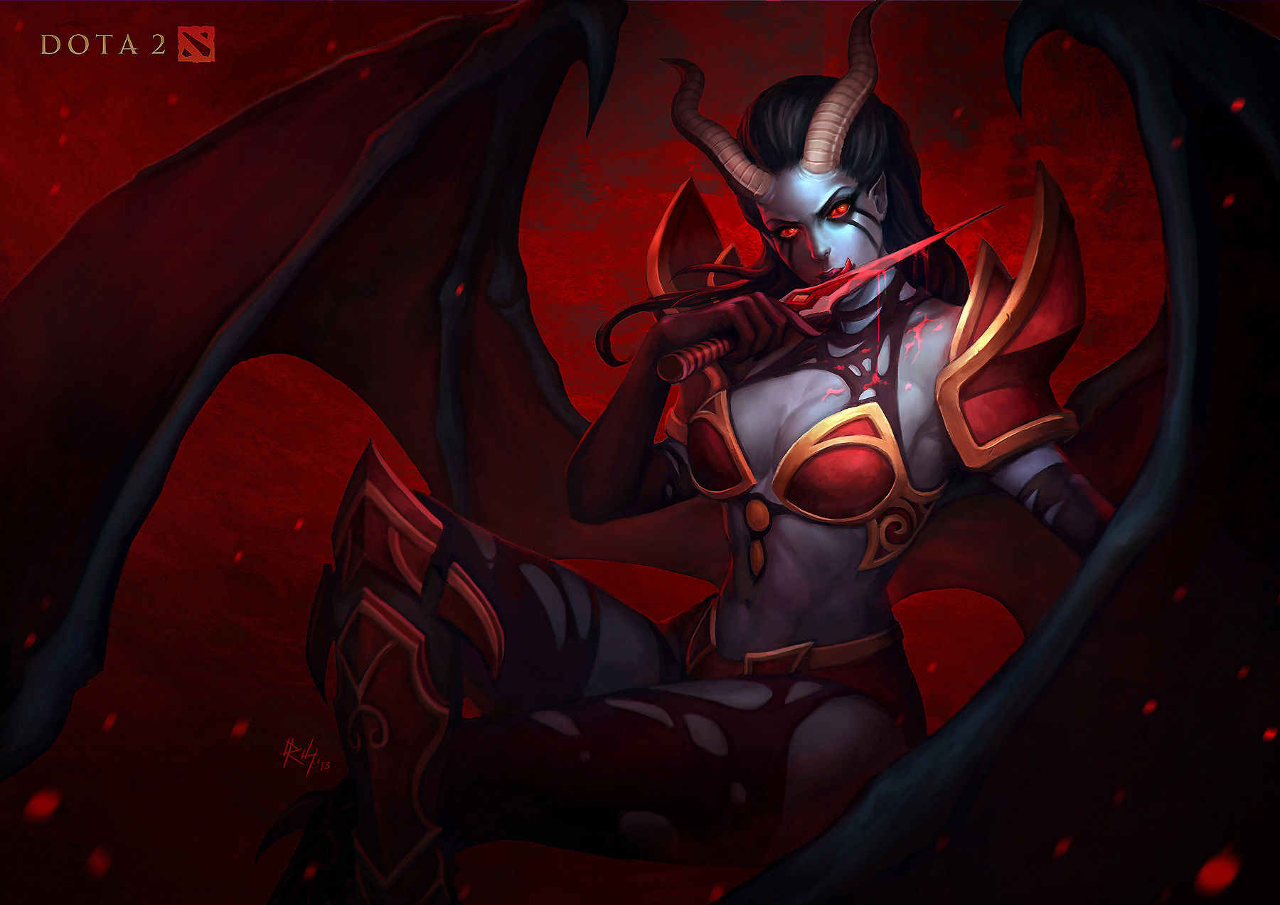 Queen Of Pain Wallpaper Dota 2 HD Wallpapers 1800x1273