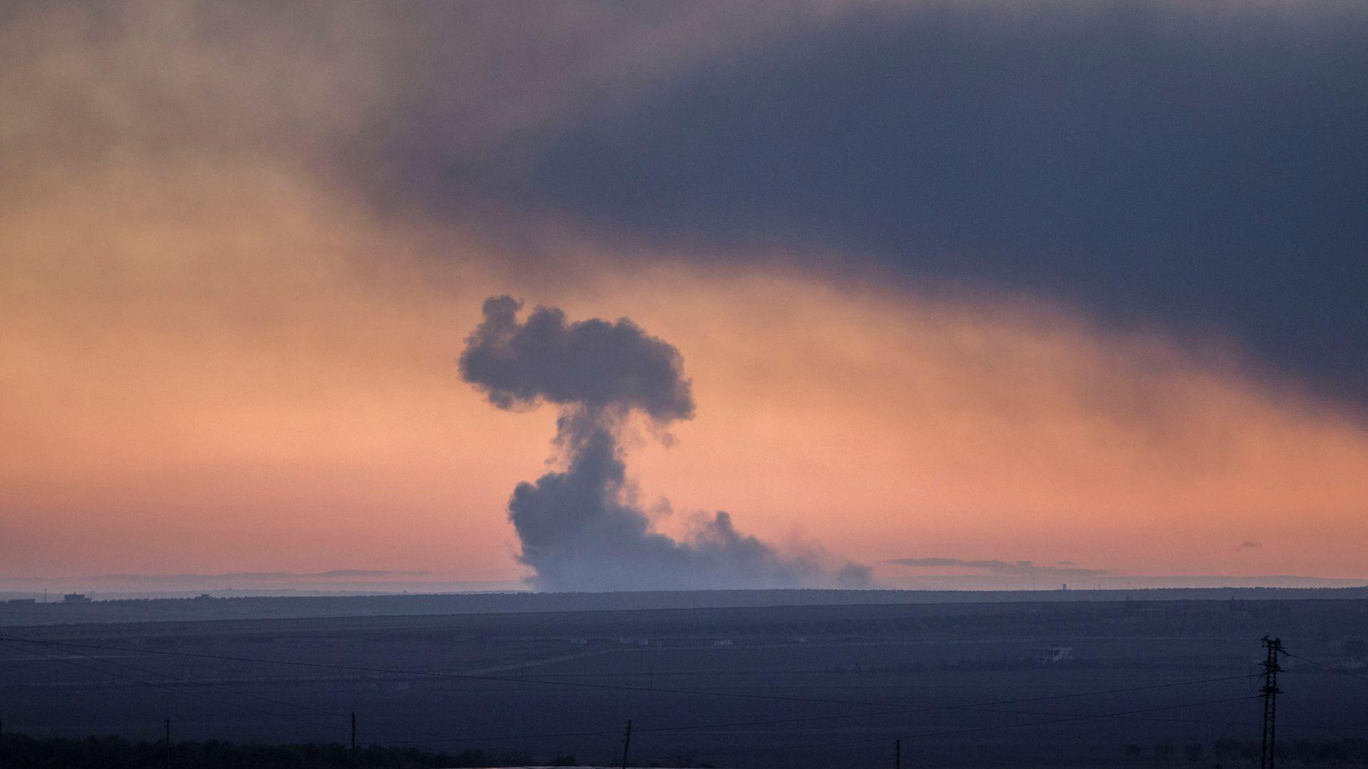 Turkey launches strikes on Kurdish forces in Syria   Axios 1920x1080