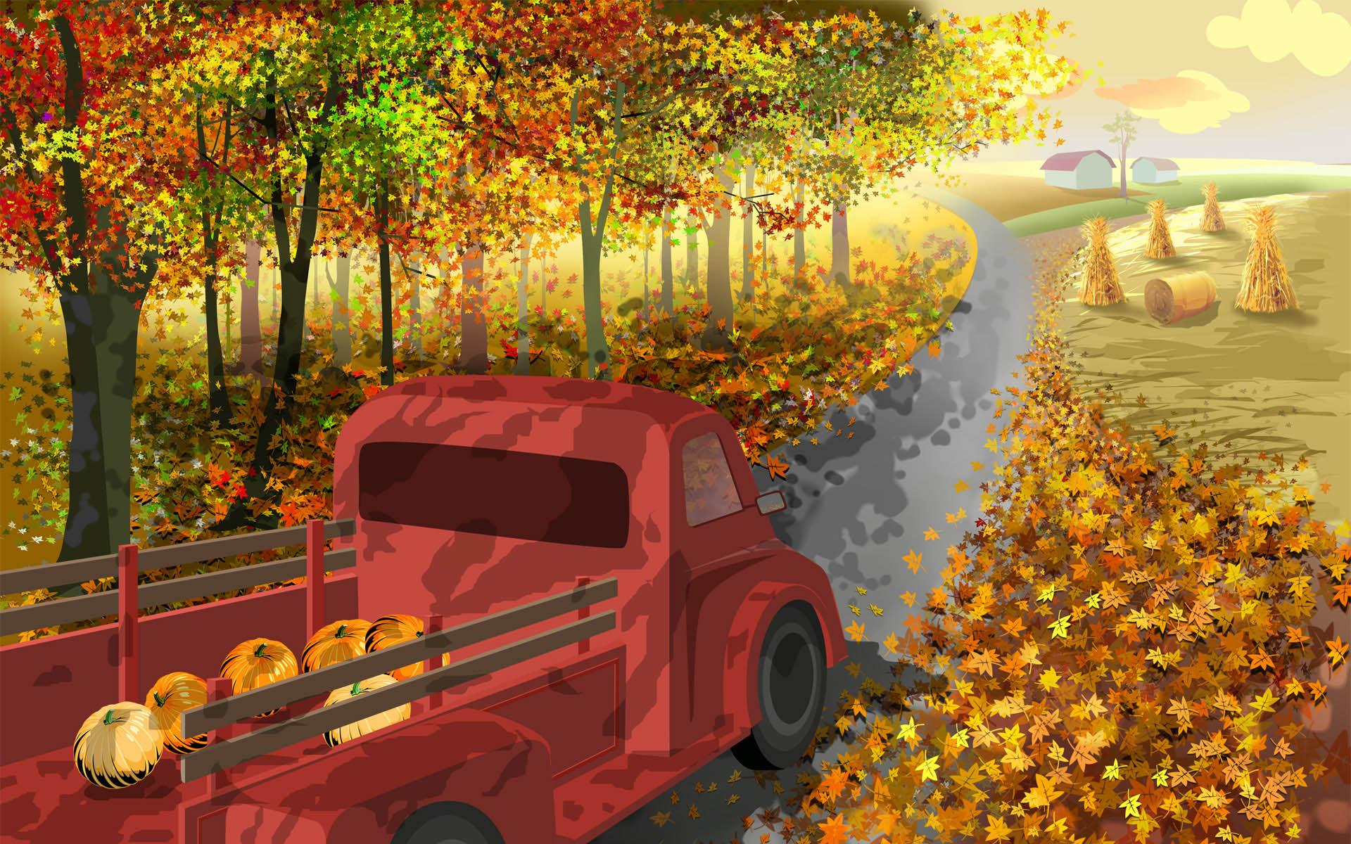 Thanksgiving Cartoon,Thanksgiving Desktop Wallpaper 7_High Definition ...