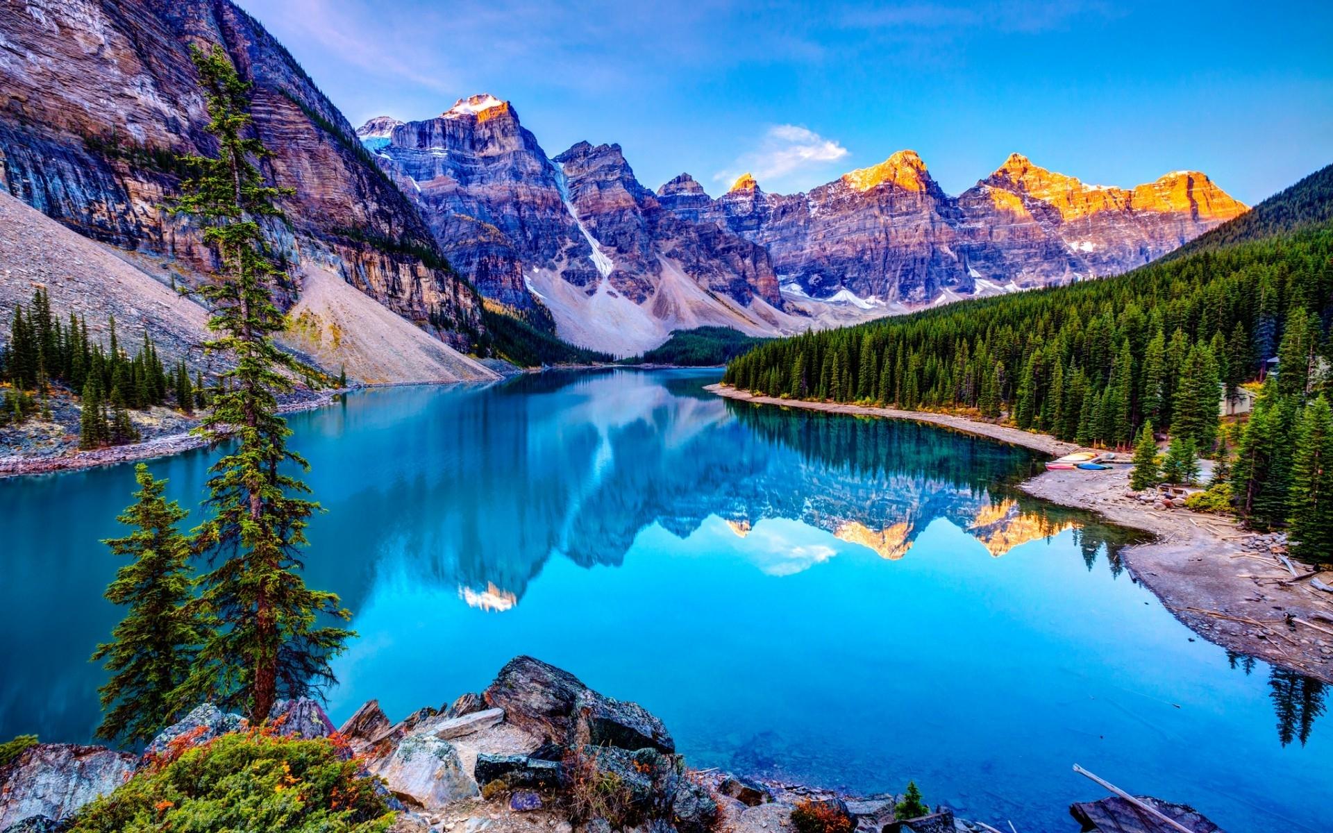 landscape of lake and mountains hd desktop wallpaper hd desktop
