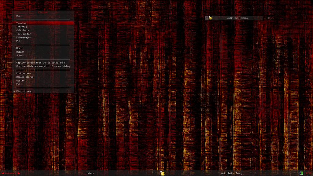 Blackdust burned A fluxbox theme and a wallpaper by jjposti1876 1024x576