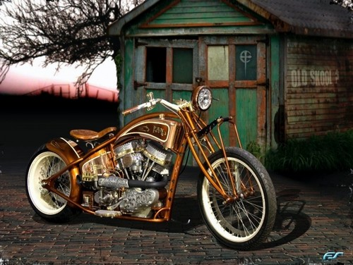Take a trip down memory lane with this old school motorcycle 500x376
