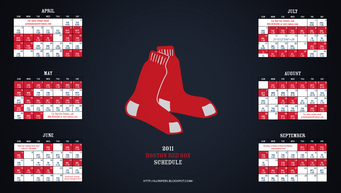 2011 Boston Red Sox Wallpaper 1360x768