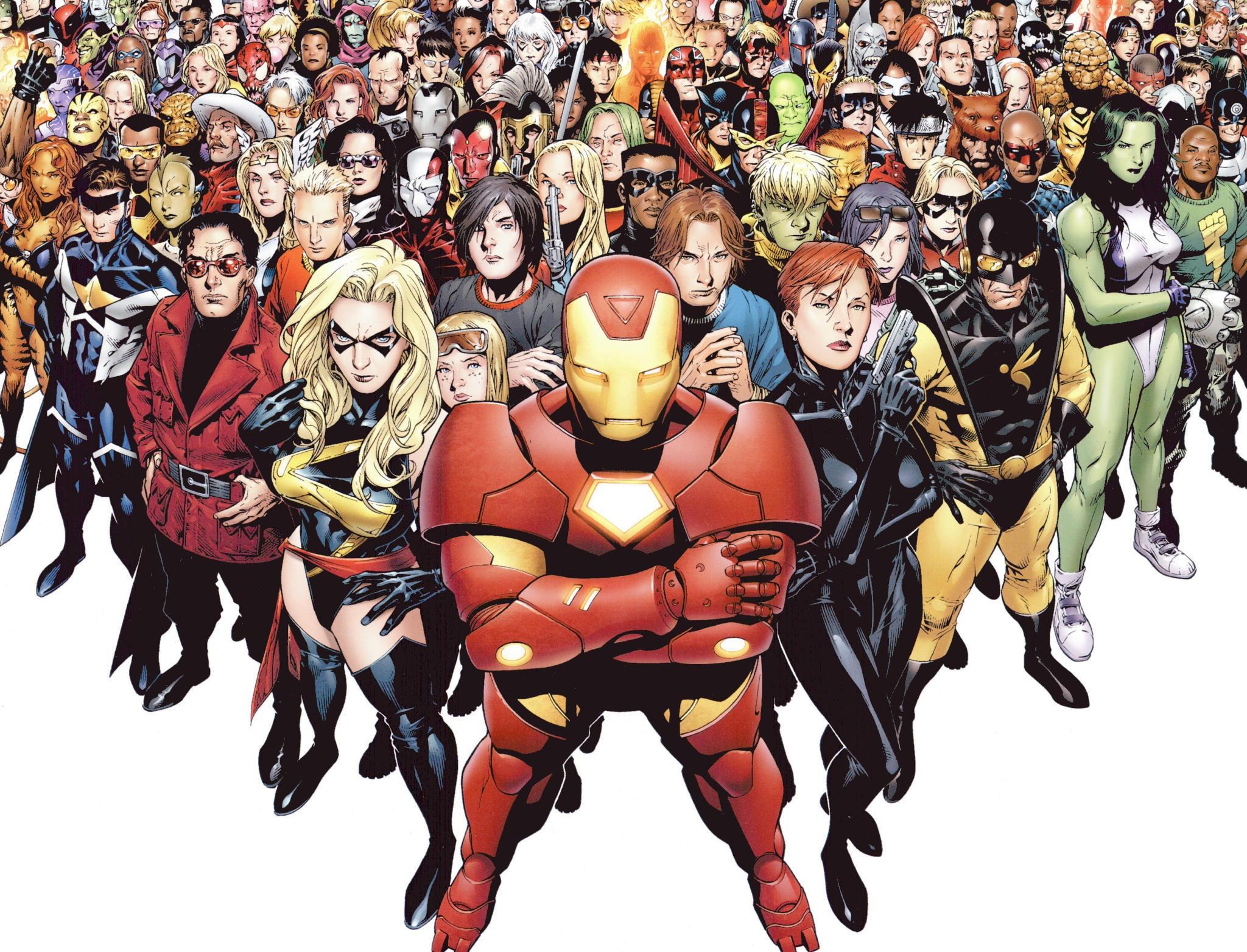 Marvel Superheroes desktop wallpaper 2048x1564