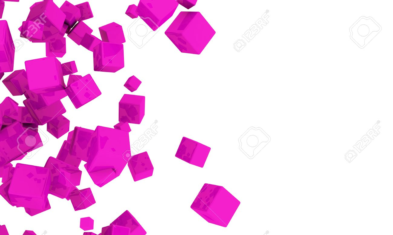 Abstract Background Of 3d Magenta Cubes In Different Sizes 1300x780