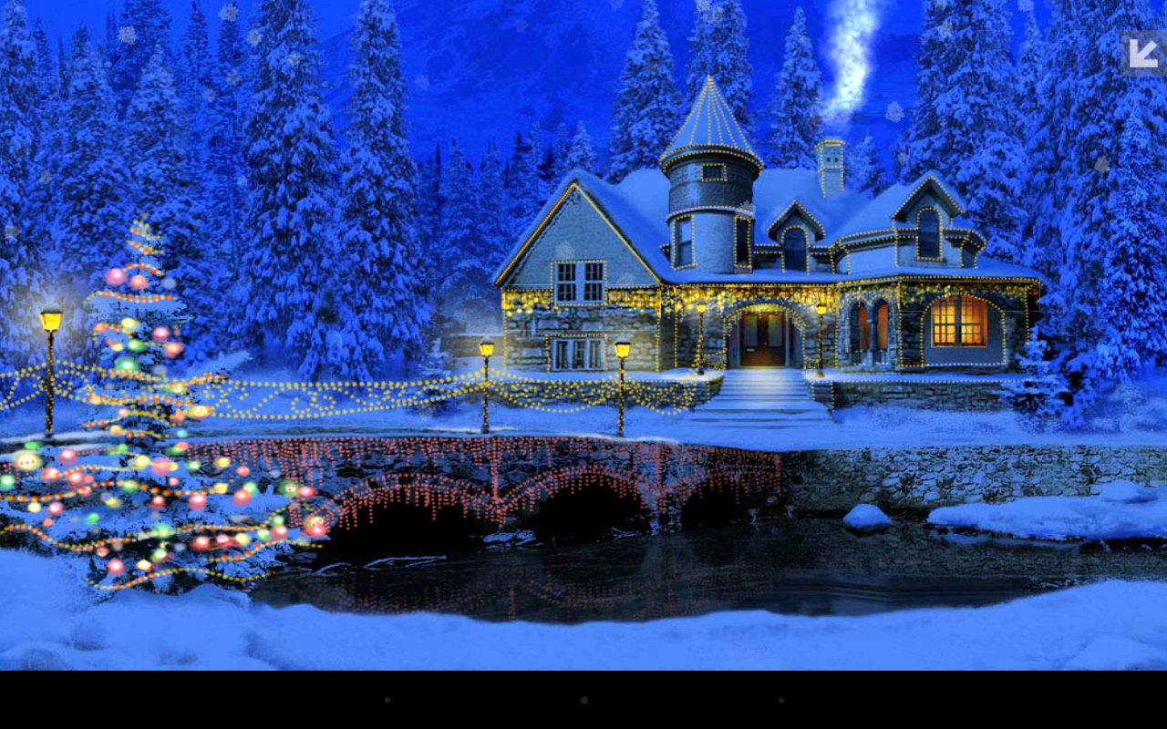 Free download Wallpapers Review Of 3d Christmas Cottage Animated Wallpaper 1280x800 for your ...