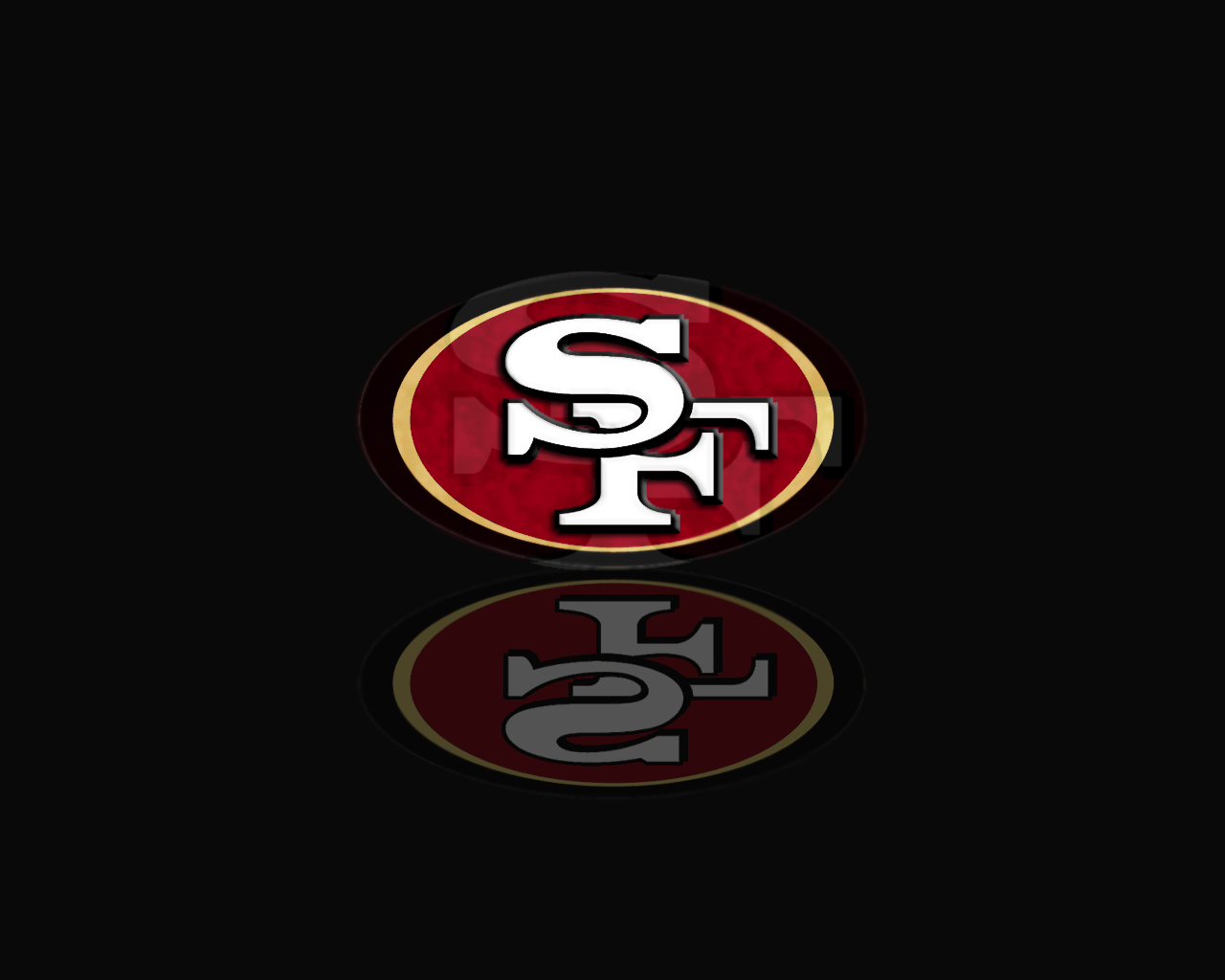 San Francisco 49ers Logo Wallpaper w Stripes by pasar3 1280 x 1280x1024