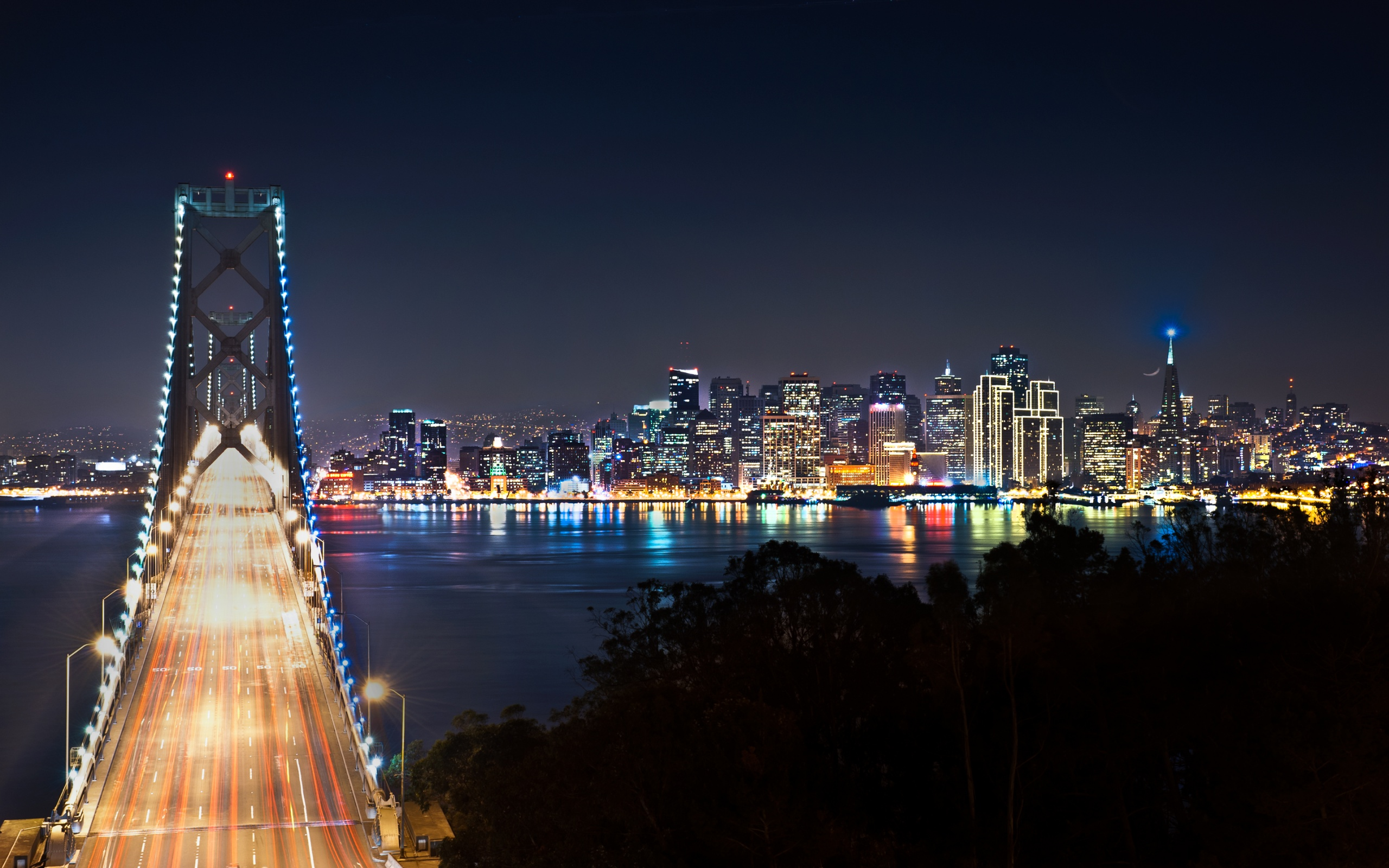 San Francisco at Night Wallpapers HD Wallpapers 2560x1600