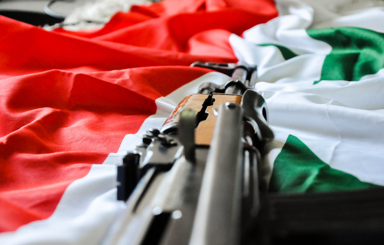 Wallpaper weapon AK 47 flag syria syrian flag images for 1332x850