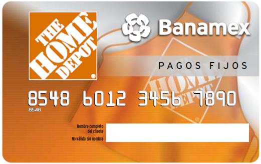 Pagos Fijos The Home Depot Banamex es la solucin de financiamiento a 521x328