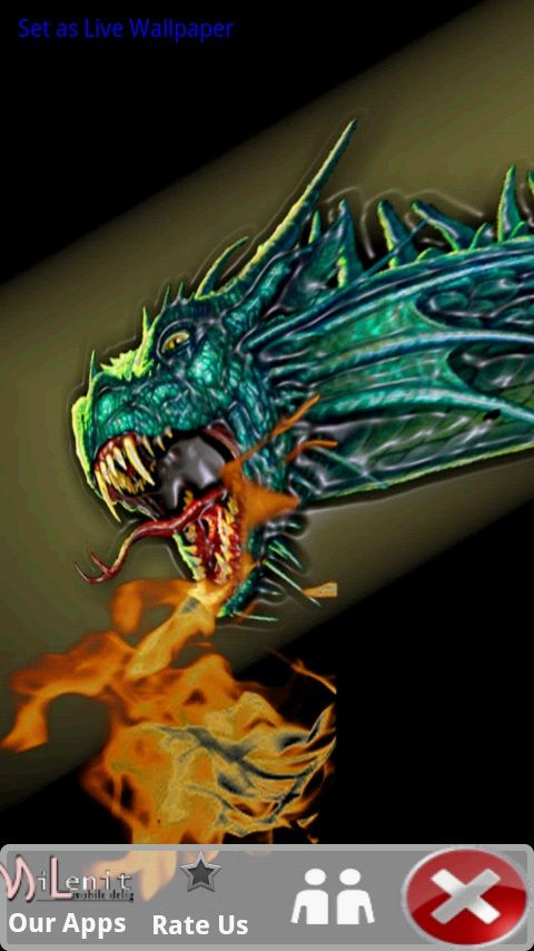 Download Fire Breathing Dragon Live Wallpaper for your 480x854