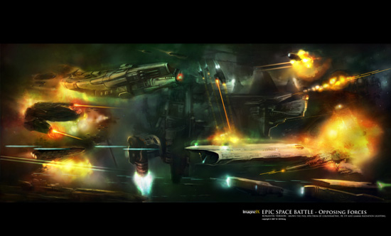 Epic Space Battle Backgrounds Illustrate an epic space 550x332
