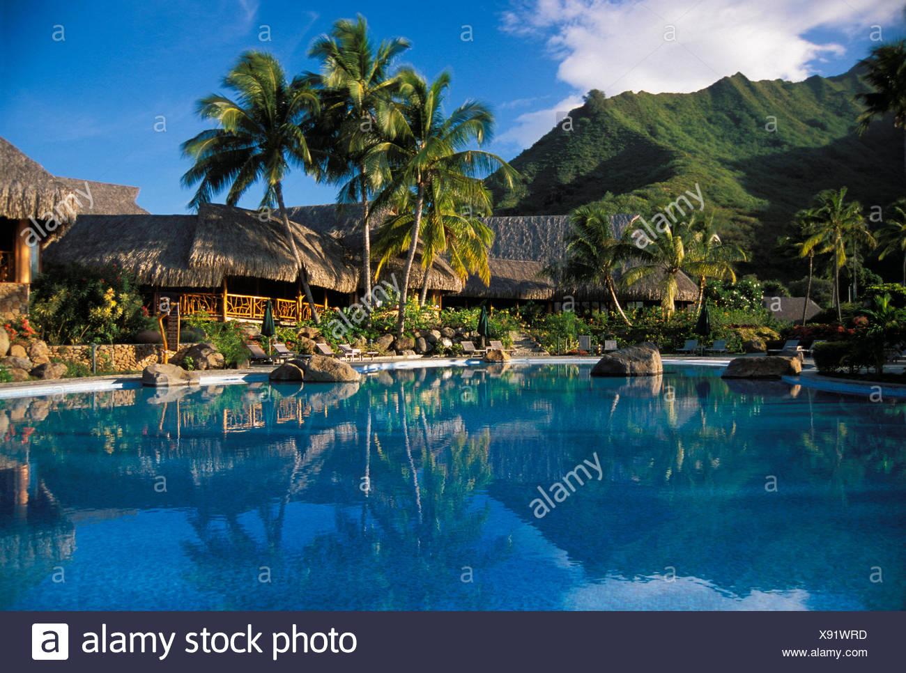 French Polynesia Moorea Sheraton Pool Side View Of Bungalows 1300x966