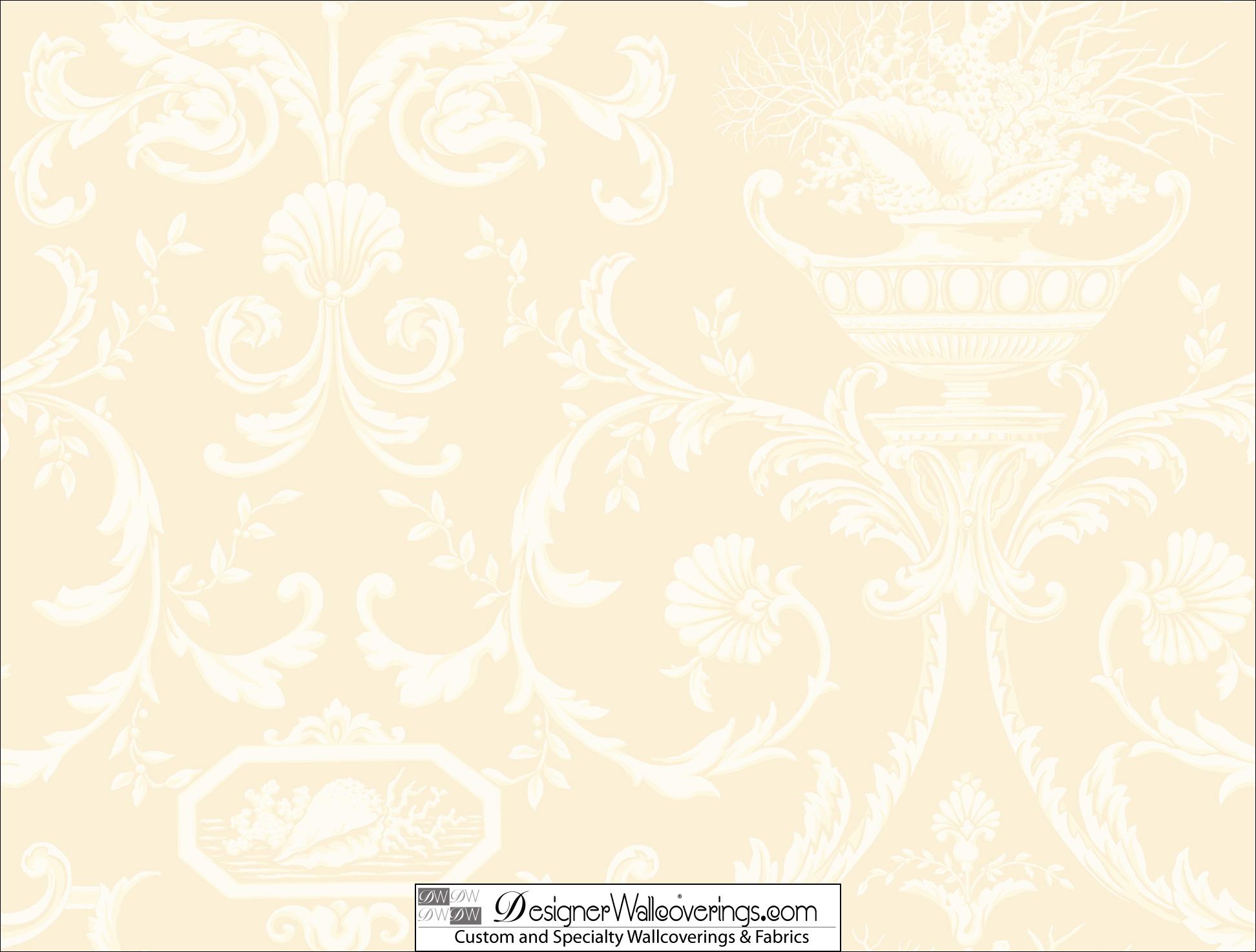 Damascino wallpaper print damask of the sea tab 79958 designer Black 1944x1474
