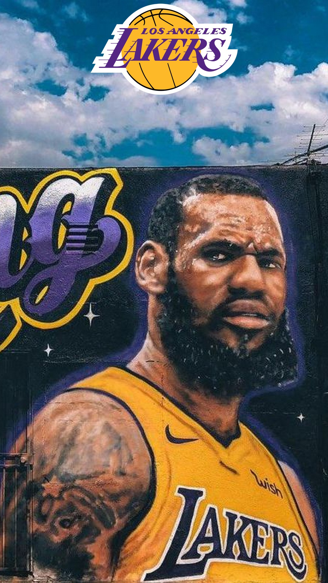 LA Lakers LeBron James iPhone 8 Wallpaper 2020 Basketball Wallpaper 1080x1920