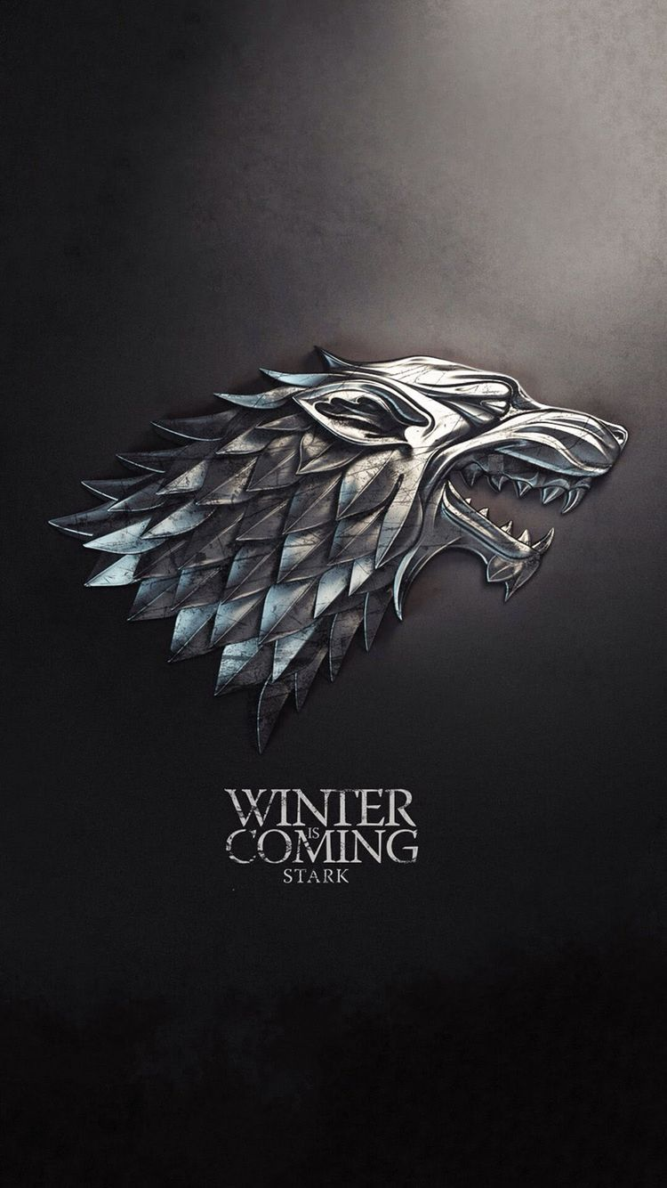 iPhone Winter is Coming Game of Thrones Black   Wallpaper 750x1334