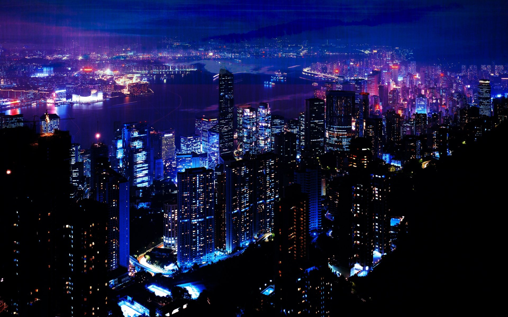 Glow Night City Wallpaper Background 551244 5497 Wallpaper Cool 1920x1200
