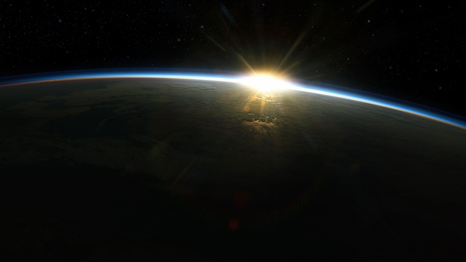 Sunrise Sun outer space Earth atmosphere wallpaper 1920x1080 61179 1920x1080