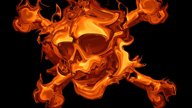 Cool Flaming Skull Wallpapers Gallery for red skulls on fire 630x354