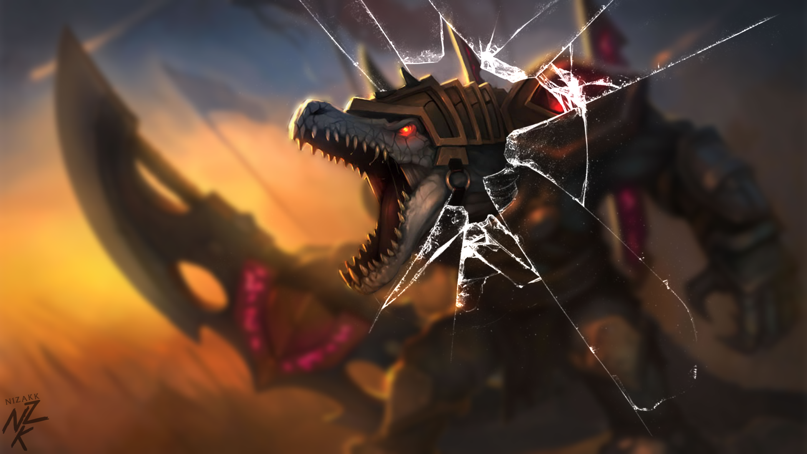 Broken Screen League of Legends Wallpaper Full HD For Desktop 1600x900