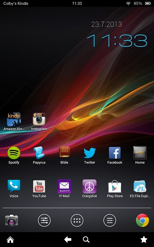 Installing Alternate Wallpaper Kindle Fire HD Android CowboyAndroid 500x800