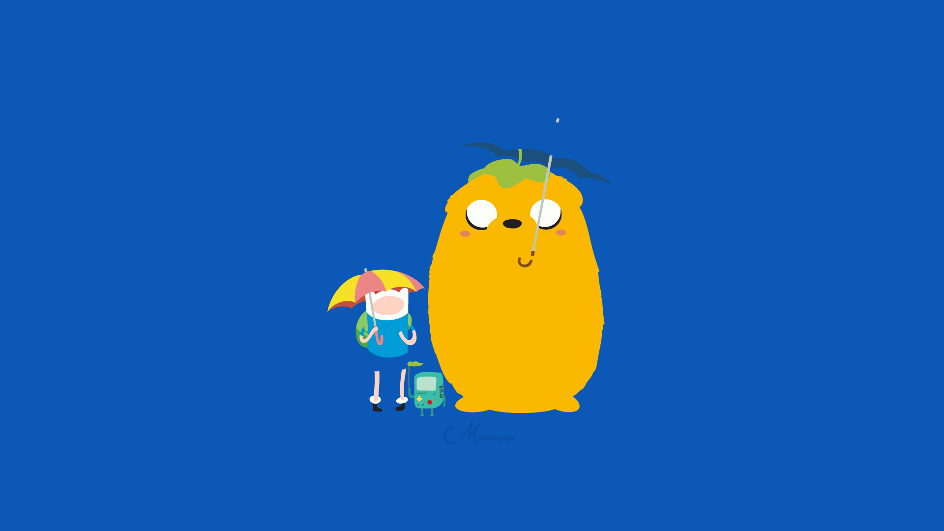 Finn Jake and BMO from Adventure Time HD Wallpaper Background 1920x1080