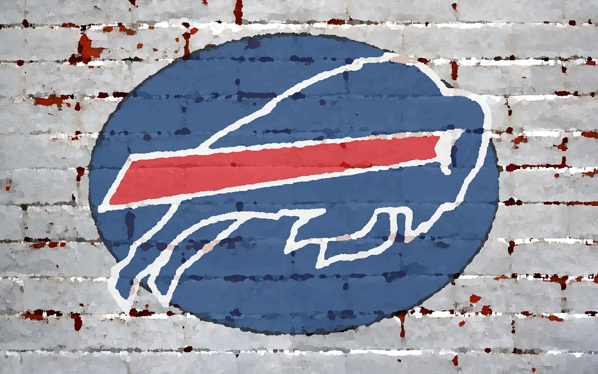 latest brick wallpaper painted logo buffalo bills 1920x1200