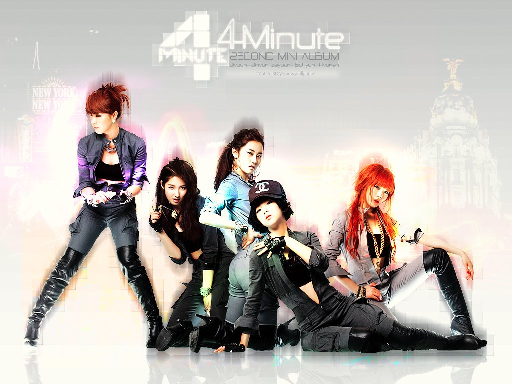 X out antis of Kpop images 4Minute HD wallpaper and 1024x768