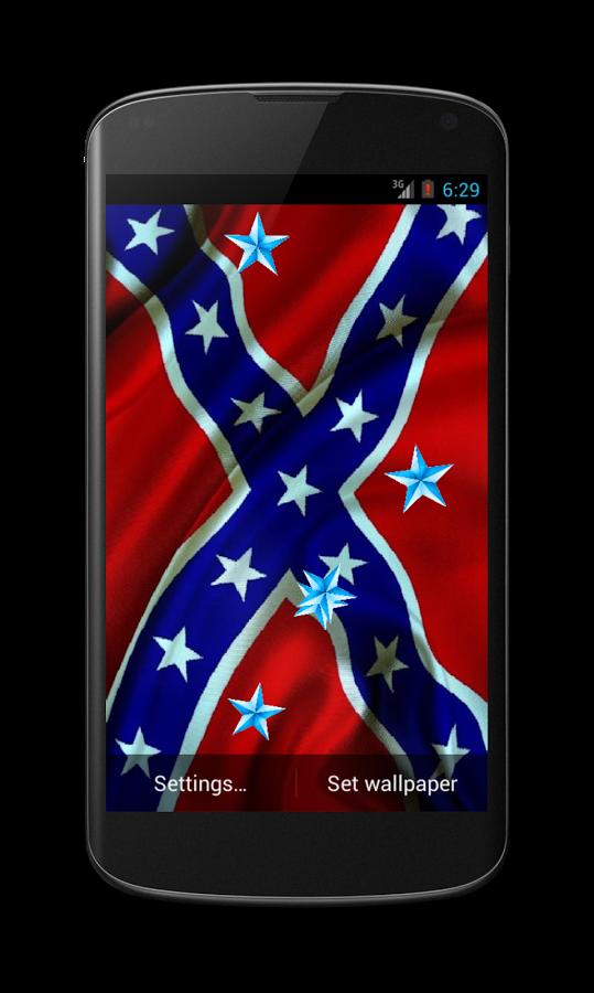 Rebel Flag Live Wallpaper   screenshot 539x900