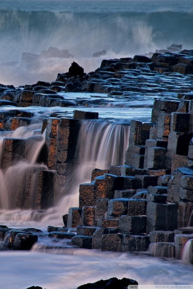 Giants Causeway Antrim Northern Ireland 4K HD Desktop Wallpaper 640x960