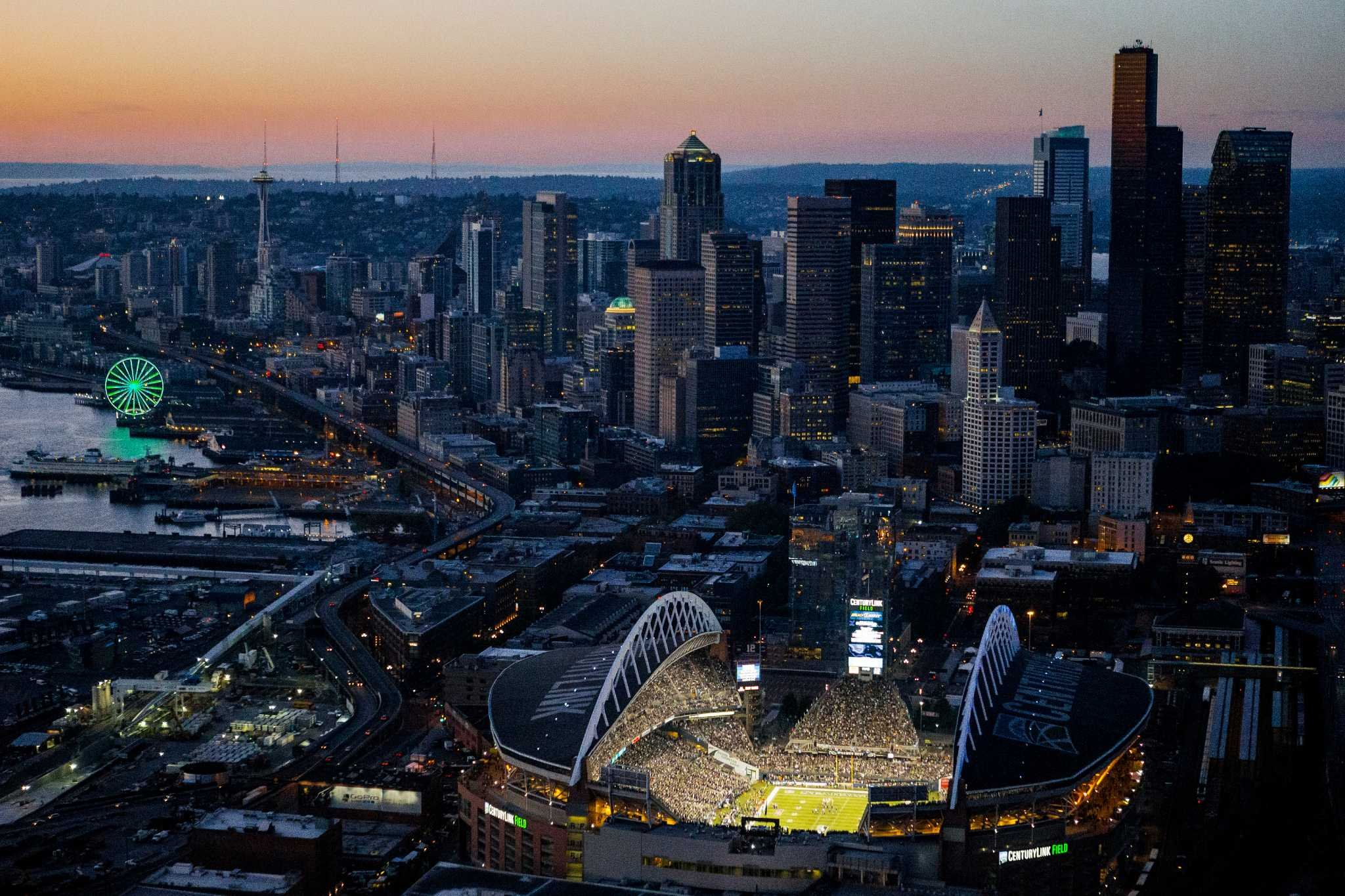 SEATTLE SEAHAWKS nfl football city cities stadium wallpaper background 2048x1365
