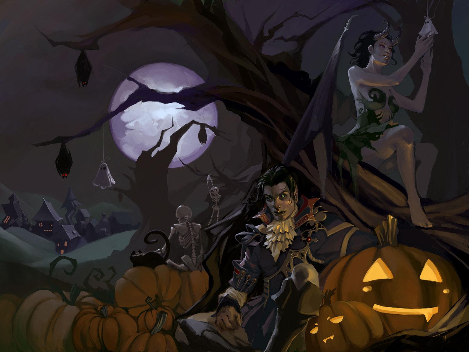 Halloween Wallpapers Cute Halloween Wallpapers 1600x1200