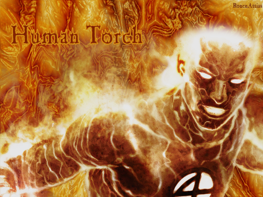 Human Torch Wallpaper by RonenAttias on deviantART 1024x768