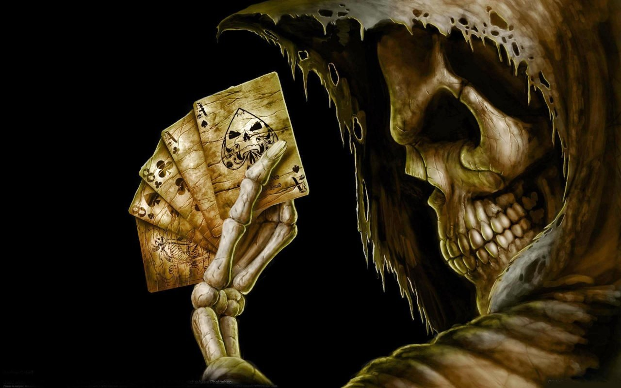 Gothic Poker Skull Windows 8 Wallpaper wallpapers x 1280x800