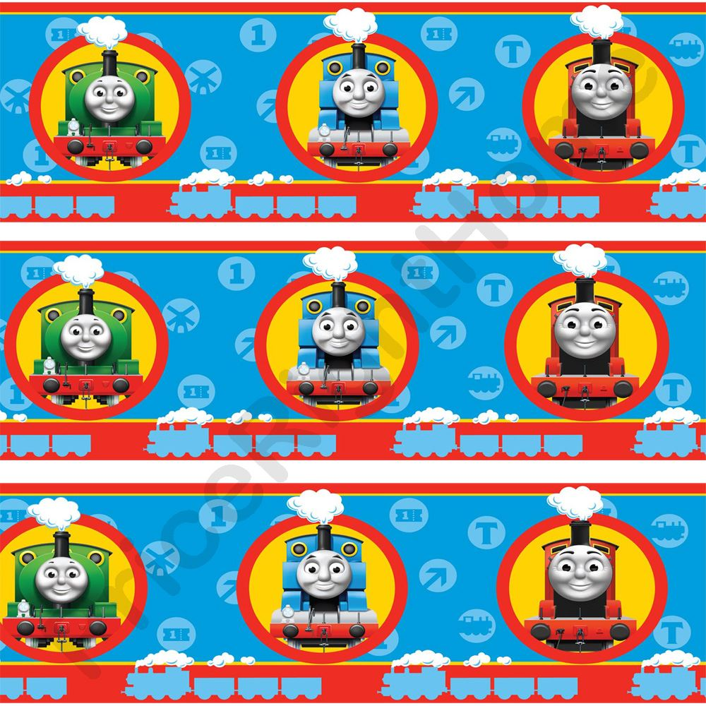 Details about Thomas the Tank Engine No1 Wallpaper Border 7 inch New 1000x1000