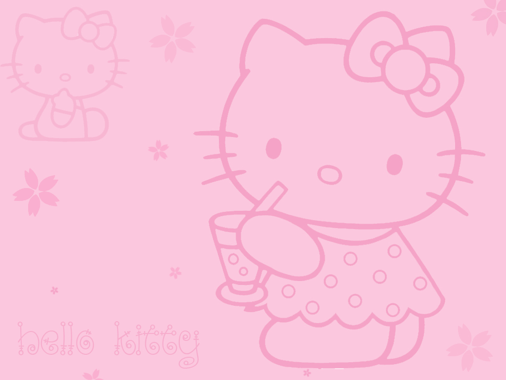 Hello Kitty Snow Wallpaper images 1024x768