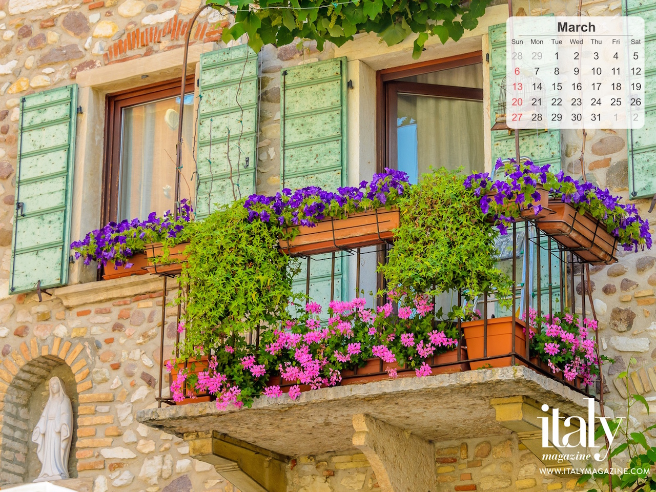 Wallpaper Calendar   March 2016 ITALY Magazine 1280x960