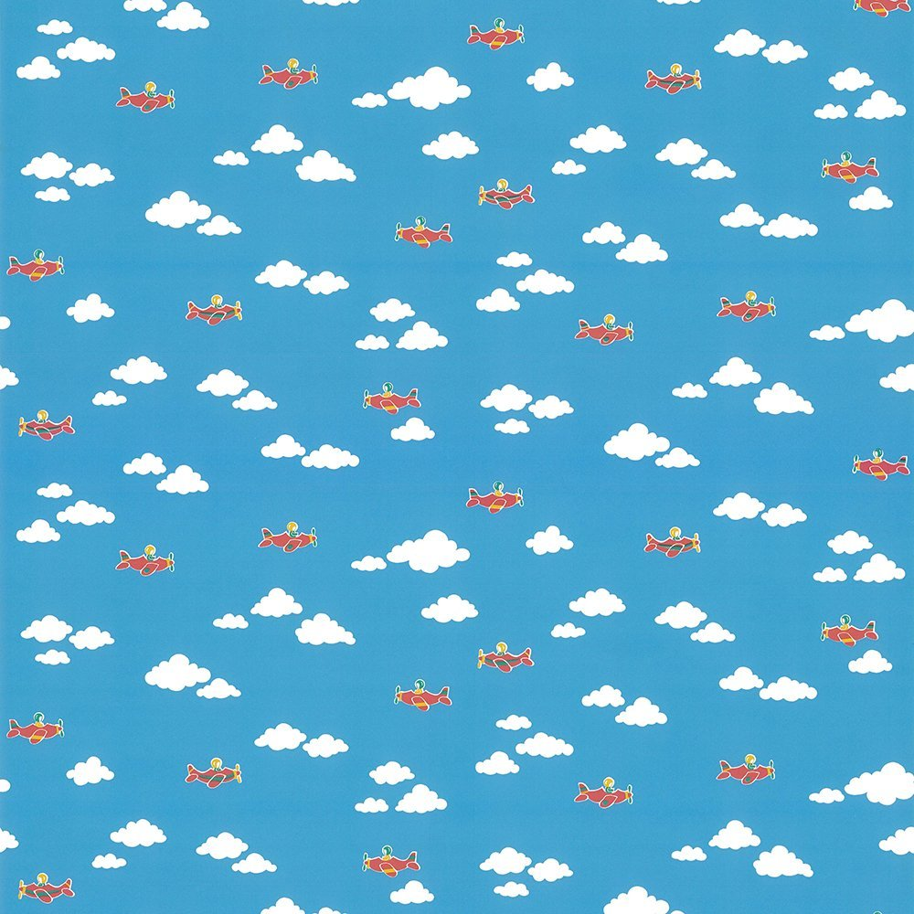 Wallpaper Coloroll Coloroll Aeroplane Sky Clouds Wallpaper 1000x1000