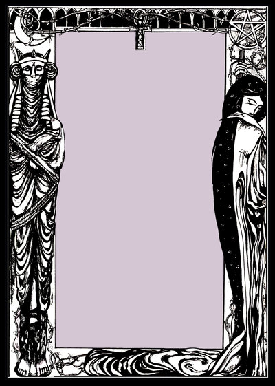 Gothic Page Border by Prevmia 400x561