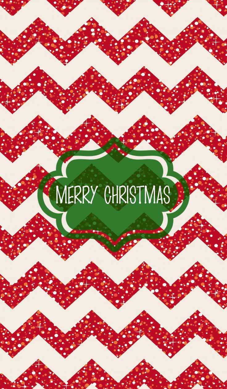 Free Download Red Chevron Merry Christmas Iphone Wallpaper