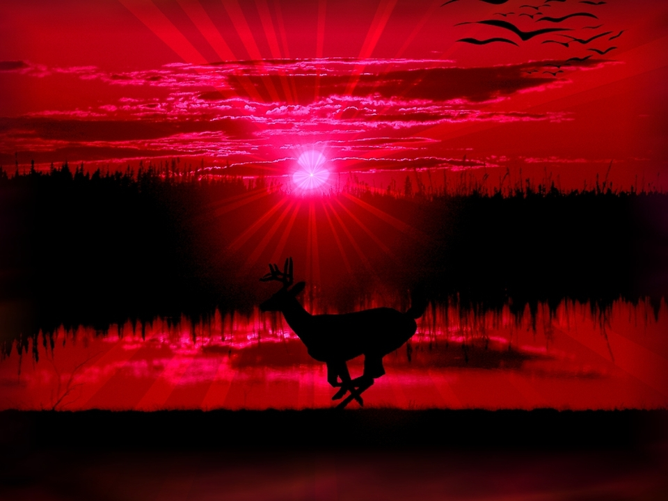 pixel Desktop Wallpapers Wallpapers Red Sunset Screensavers 960x720