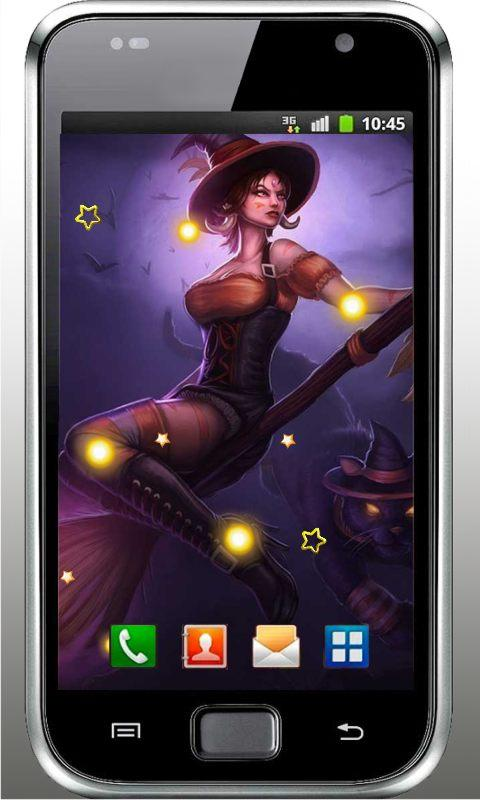 witch live wallpaper of charge halloween witch live wallpaper is 480x800