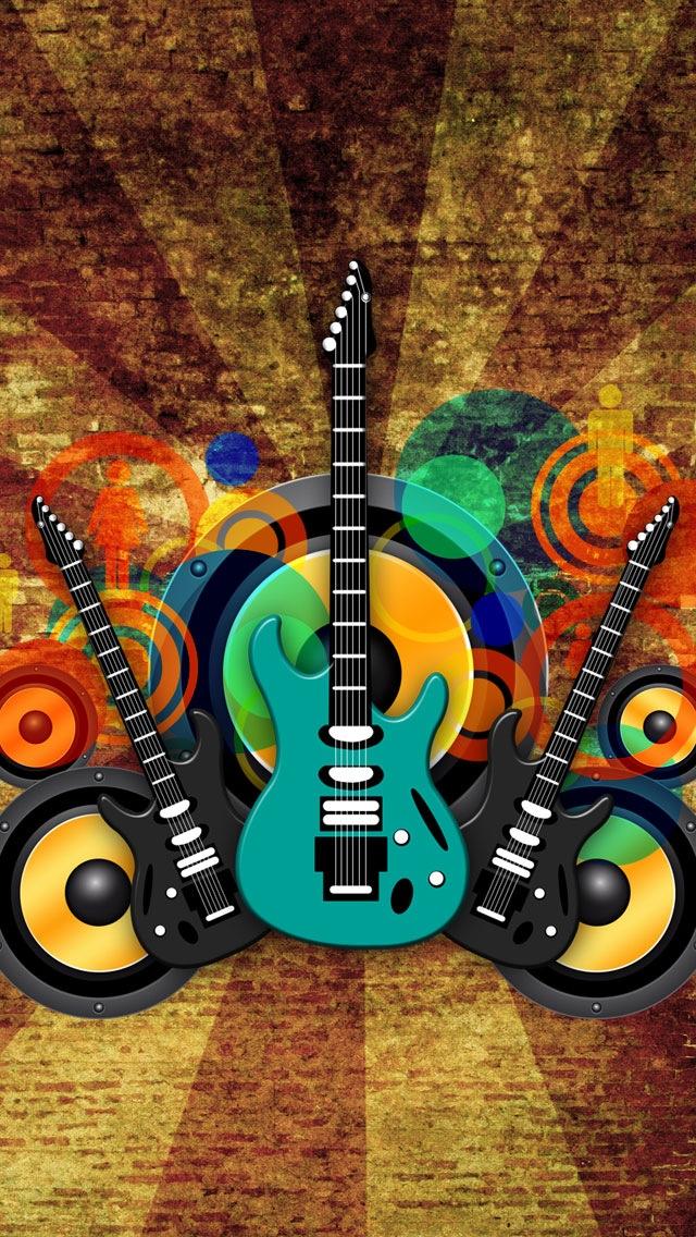 Vintage Music Guitars Wallpaper   iPhone Wallpapers 640x1136