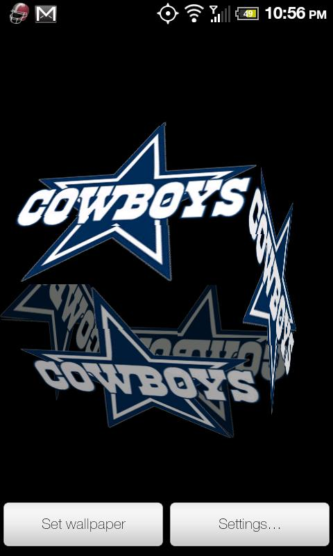 Cowboys wallpaper android impremedia cowboys live wallpaper pro android informer dallas cowboys 3d voltagebd Images