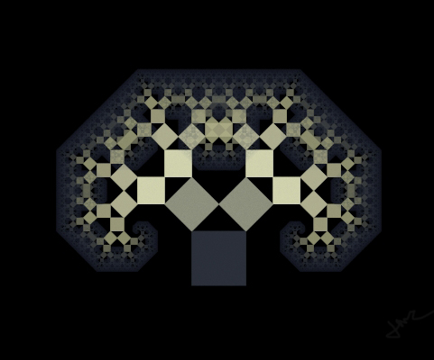 Pythagoras Tree   Fractals by metropolis92 481x400